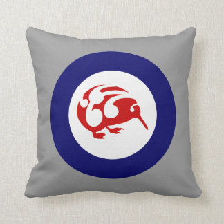 Kiwi Roundel Throw Pillows