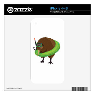 Kiwi Simile Book Characters Skins For iPhone 4
