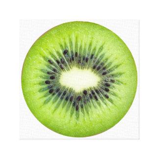 Kiwi Slice Fruit Art Canvas Print