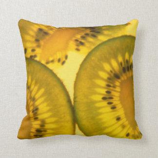Kiwi Slices Throw Pillow