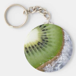Kiwi Splash Basic Round Button Keychain