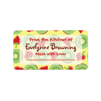 Kiwi Strawberry Custom Canning / Jar Labels