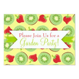 Kiwi Strawberry Custom Party Invitations