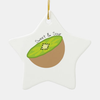 kiwi_Sweet & Sour Double-Sided Star Ceramic Christmas Ornament