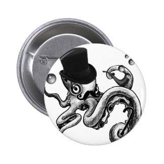 Kiwi the Fancy Octopus Button