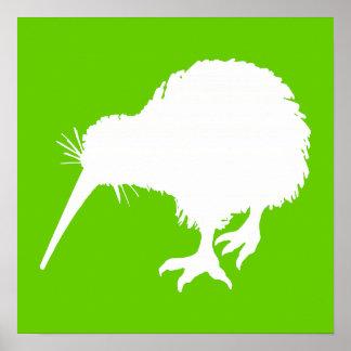Kiwi verde y blanco posters