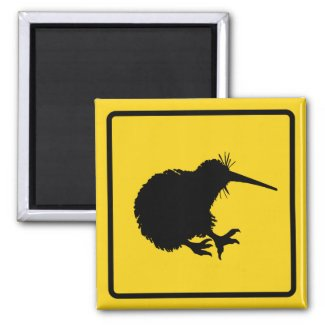 Kiwi Warning Magnet magnet