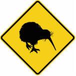 Kiwi Warning Standing Photo Sculpture