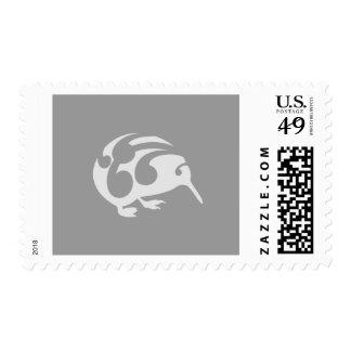 Kiwi with Koru design Stamp