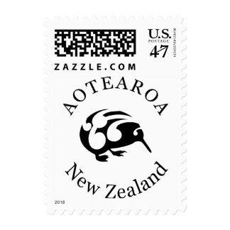 Kiwi with Koru Postage