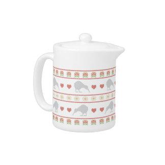 Kiwi Xmas Teapot