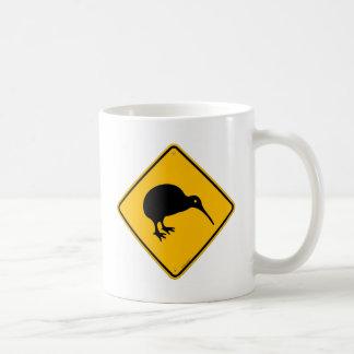 Kiwi Yellow Sign Coffee Mug