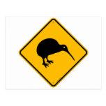 Kiwi Yellow Sign Postcard