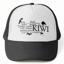 Kiwiana hat - iconic New Zealand animals