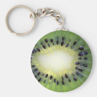Kiwifruit Basic Round Button Keychain