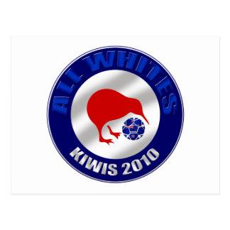 Kiwis 2010 todos los regalos del fútbol de Nueva Postal