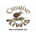 Kiwis creativos 1 tarjetas postales