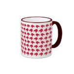 Kiwis rojos minúsculos taza de café
