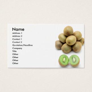 Kiwis still life business card