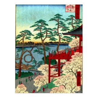 Kiyomizu Hall and Shinobazu Pond at Ueno (上野清水堂不忍ノ Postcard