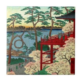 Kiyomizu Hall and Shinobazu Pond at Ueno (上野清水堂不忍ノ Tile