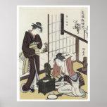Kiyonaga Charms Fascinating Women 1780 Art Poster