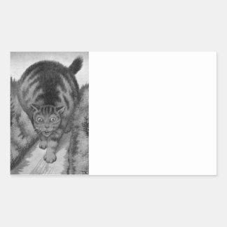 Kjat Monster Kitty Rectangular Sticker