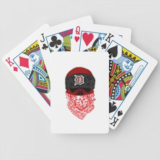 KJG Skull Logo Bicycle Playing Cards