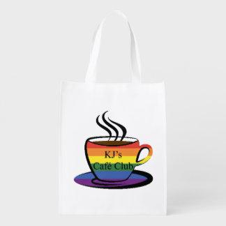 KJ's Café Club, Reusable Shopping Bag Grocery Bags