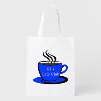 KJ's Café Club, Reusable Shopping Bag Market Totes