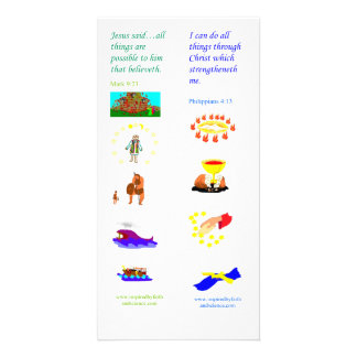 KJV All things are possible - Bible bookmark card Custom Photo Card