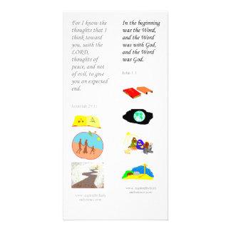 KJV en el principio - tarjeta de la señal de la bi Tarjeta Fotografica Personalizada