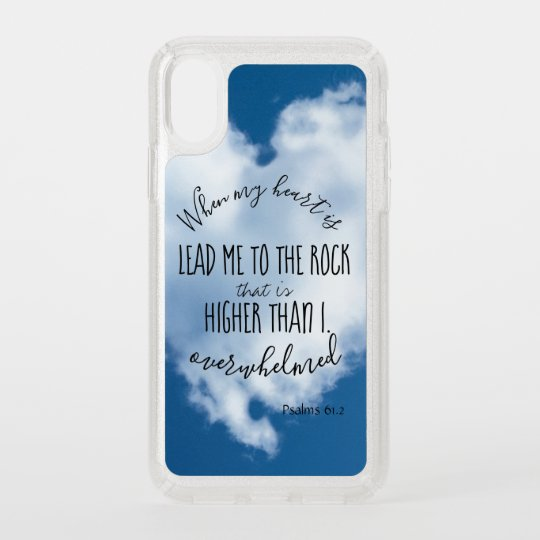 KJV Lead me to the Rock Psalms Scripture Speck iPhone Case