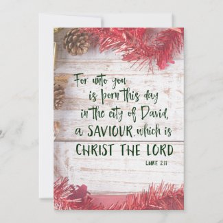 KJV Scripture Christmas Holiday Card