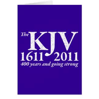 KJV Still Going Strong in white distressed Card