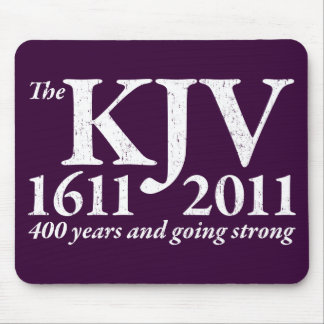 KJV Still Going Strong in white distressed Mouse Pad