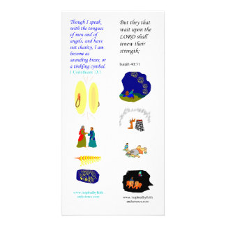 KJV tongues of angels - Bible bookmark card Photo Greeting Card