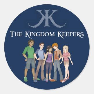 KK Character Sticker-Blue Classic Round Sticker