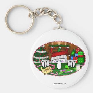 KK Santa Keychain