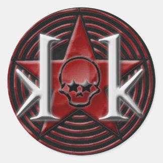 KK Star Logo Sticker (round)