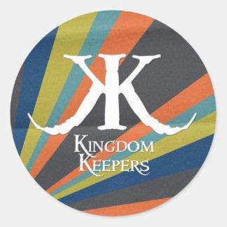 KK Striped Circle Sticker