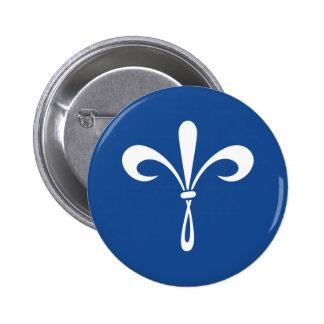 KKG Fleur de Lis: Deep Blue Button