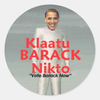 Klaatu BARACK Sticker