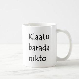 klaatu barada nikto coffee mug