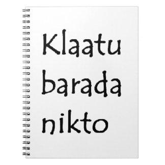 klaatu barada nikto notebook