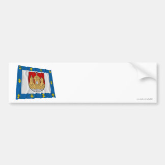 Klaipeda County Waving Flag Bumper Stickers