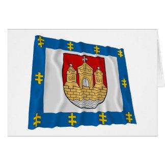 Klaipeda County Waving Flag Card