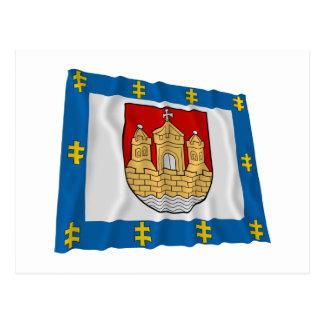 Klaipeda County Waving Flag Postcard