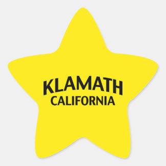 Klamath California Star Sticker