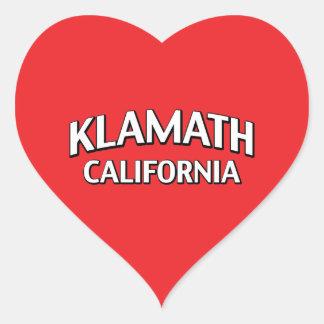 Klamath California Heart Sticker